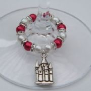 Castle Wine Glass Charm - Full Sparkle Style